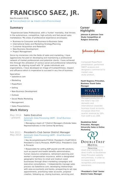 Client Executive Resume Sales Lewesmr Intended For Sample Of 21 ...