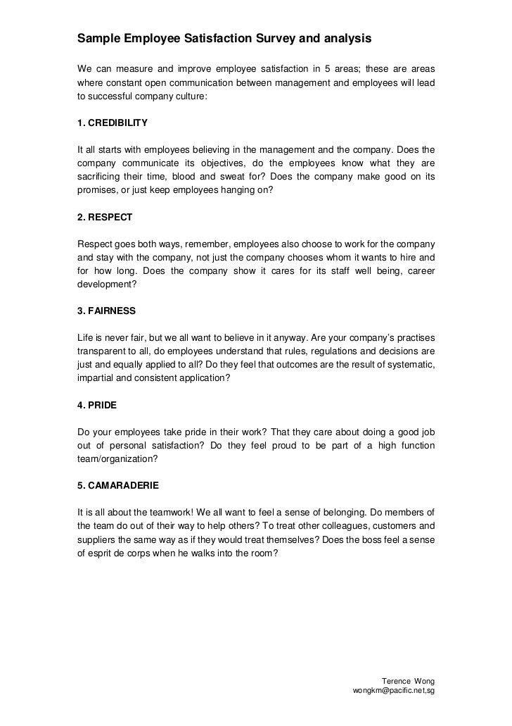 Volunteer Satisfaction Survey Template - Contegri.com