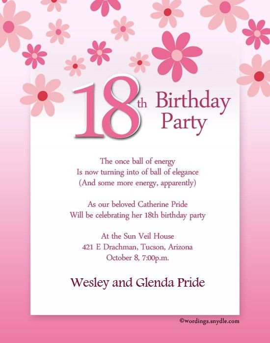 18Th Birthday Invitations | badbrya.com