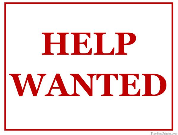 Printable Help Wanted Sign