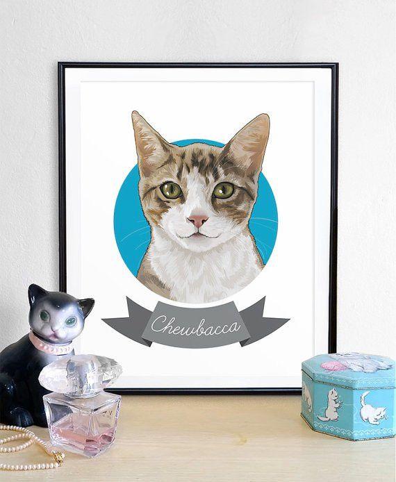 Pet Portrait custom pet portrait unique gifts funny gifts