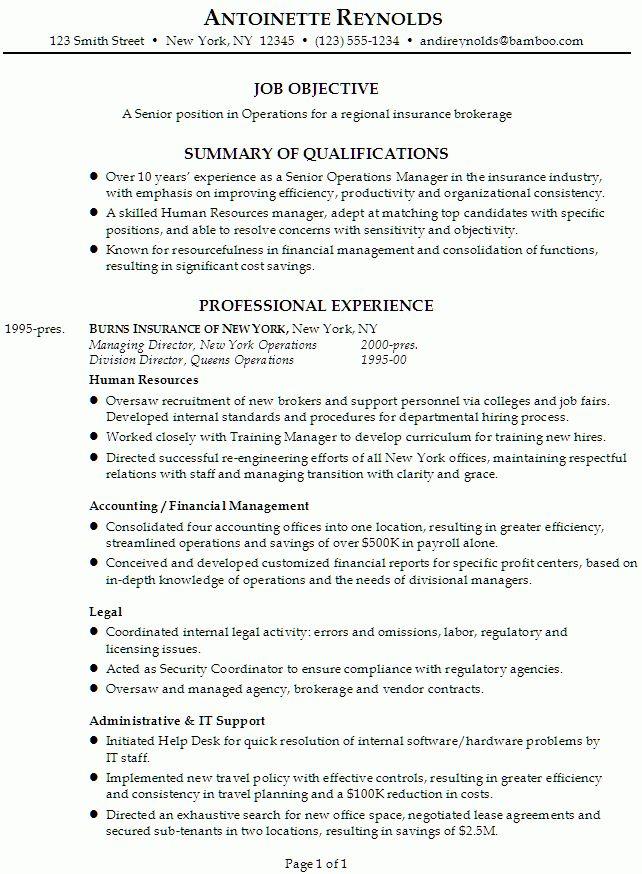Interesting Resume For Manager Position 9 Risk Management Resume ...