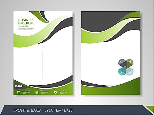 Shang Business single page brochure design vector material ...