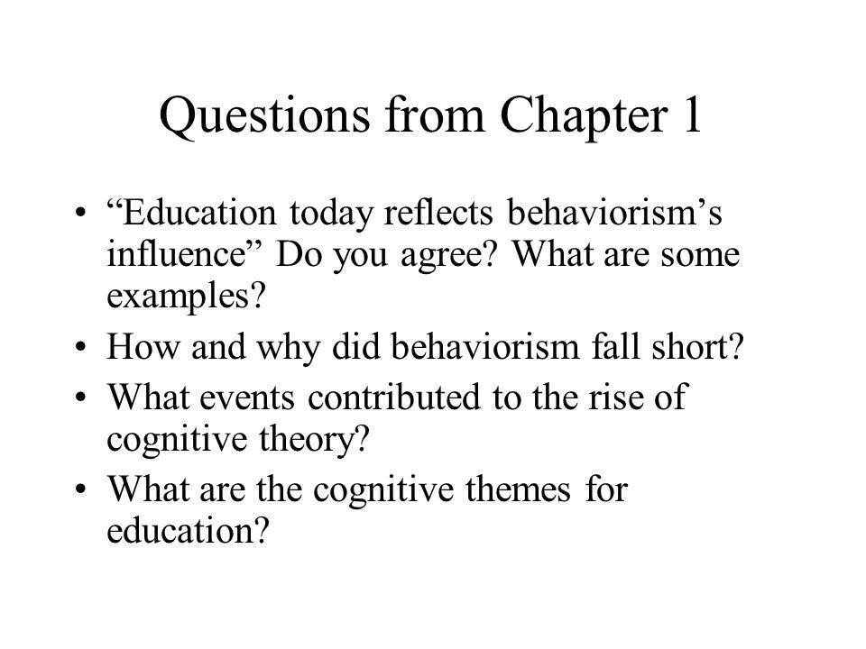 Sensory and Working Memories Reviewing Behaviorism Information ...