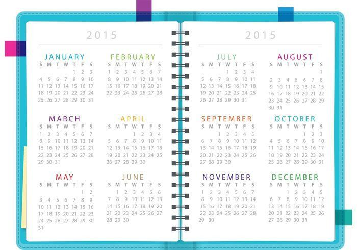 Daily Planner Notebook Vector - Download Free Vector Art, Stock ...
