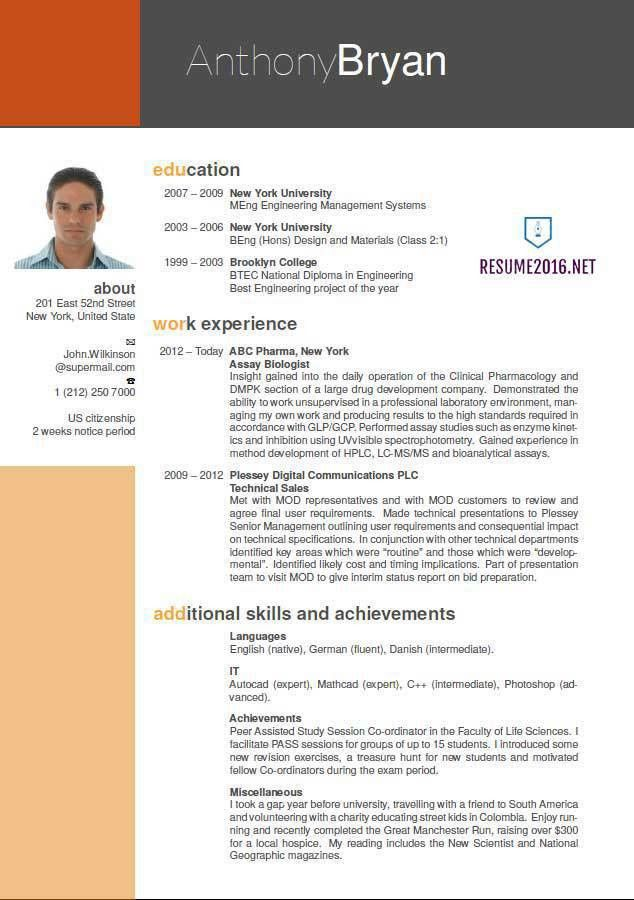 new style of resume format