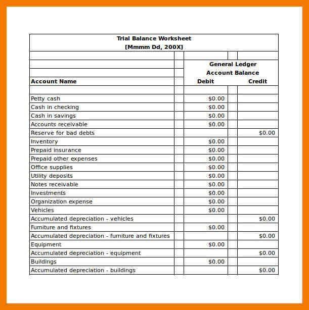 5+ balance sheet format in excel free download | mailroom clerk