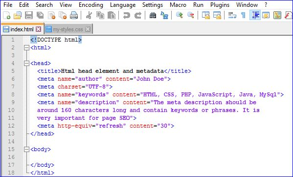 Html Head Element And Metadata: Web Development Tutorial Part 13