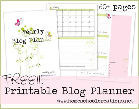 20 Free Printable Blog Planners | Fab N' Free