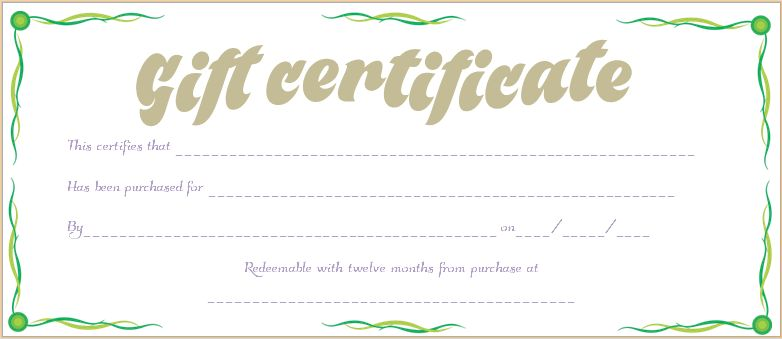 Leafs Border Gift Certificate Template #gift #certificate ...
