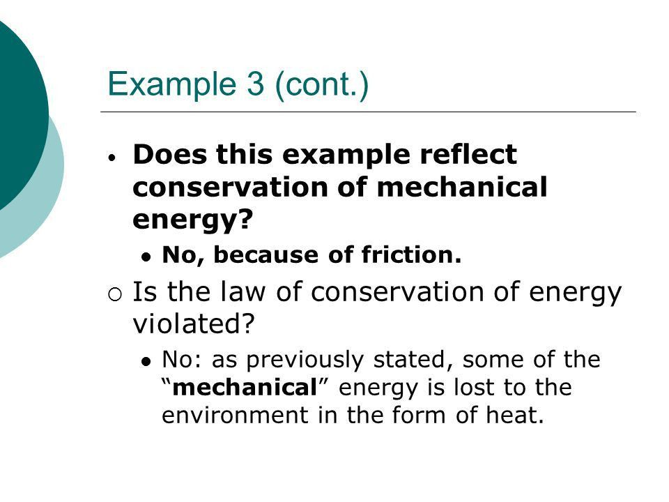 Conservation of Mechanical Energy Chapter 6. Energy  As you know ...