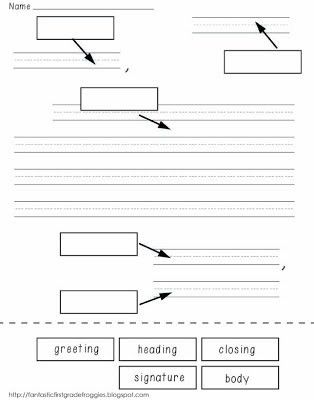 label parts of a friendly letter freebie | FirstGradeFaculty.com ...