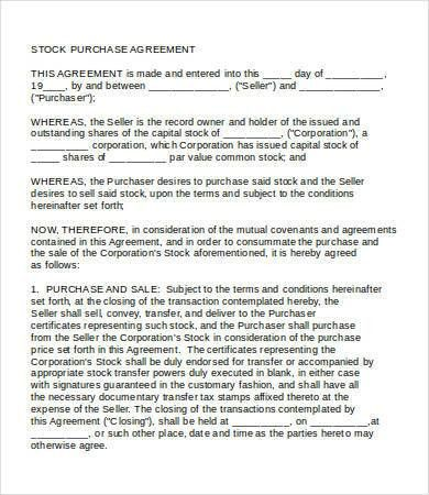 Purchase Agreement - 10+ Free Word, PDF Documents Download | Free ...