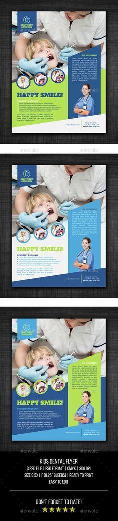 Kids Dental Flyer Templates | Flyer template, Dental and Brochures