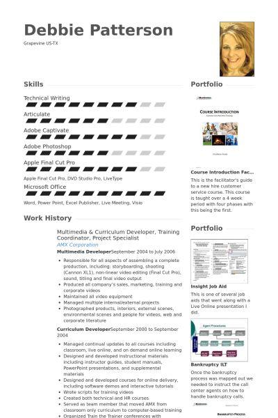 Training Coordinator Resume samples - VisualCV resume samples database
