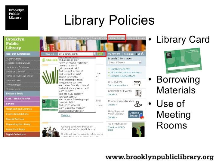 Brooklyn Public Library - The Library As Partner
