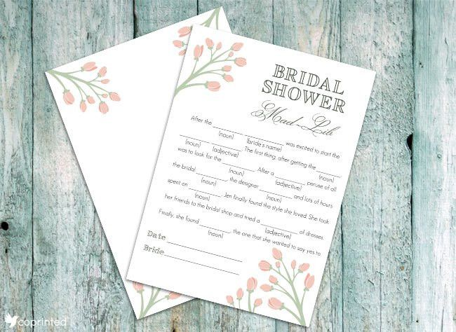 coPrinted | blog » 30+ Free Bridal Shower Printables