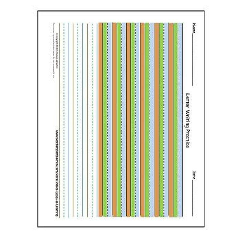Paper FREEBIE! Colored Writing Paper for Gradual Release!