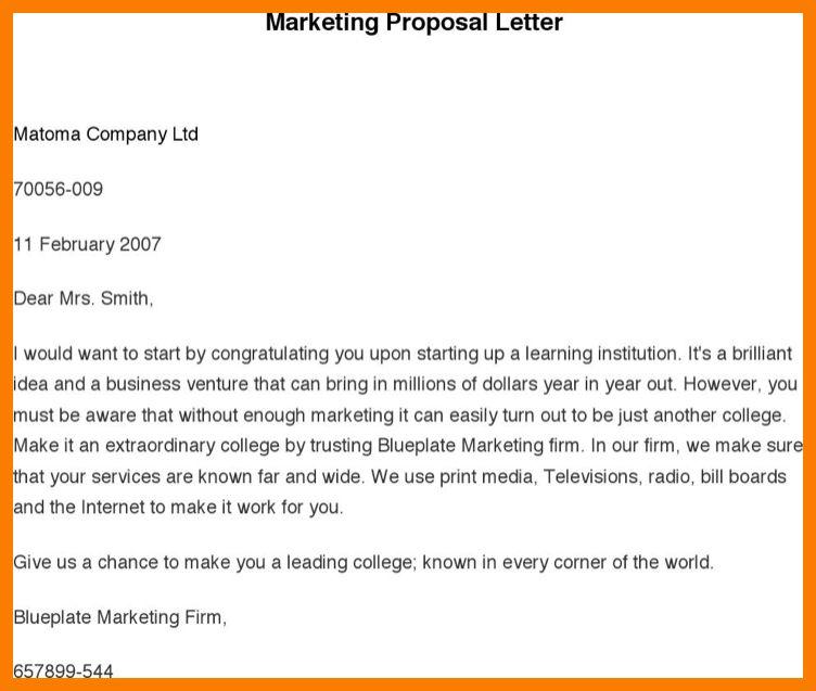 7+ marketing proposal letter | park-attendant