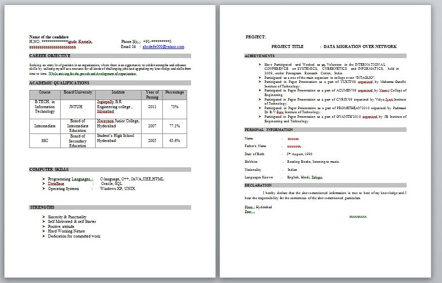android developer resume template free word excel pdf quora ...