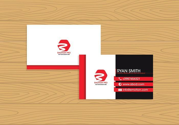 Name Card Template Free Vector - Download Free Vector Art, Stock ...