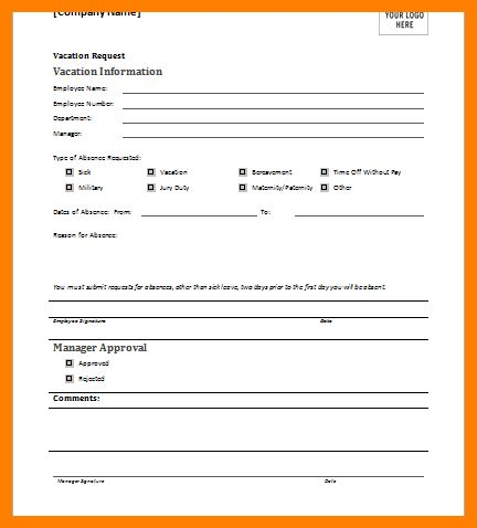 holiday form template