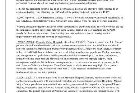 CVICU Nurse Resume Sample - Reentrycorps