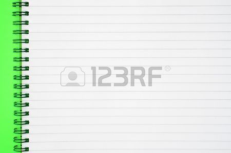 An Open Spiral Notepad With Blank Lined Paper. Stock Photo ...