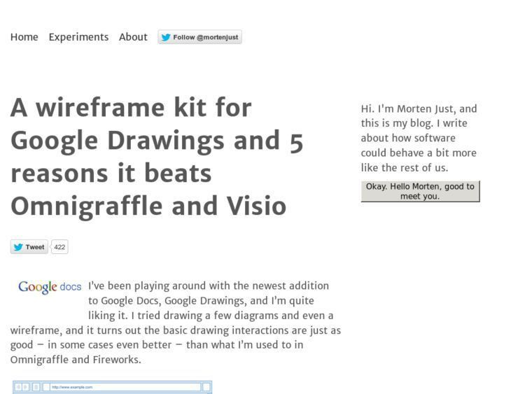 A wireframe kit for Google Drawings – KONIGI