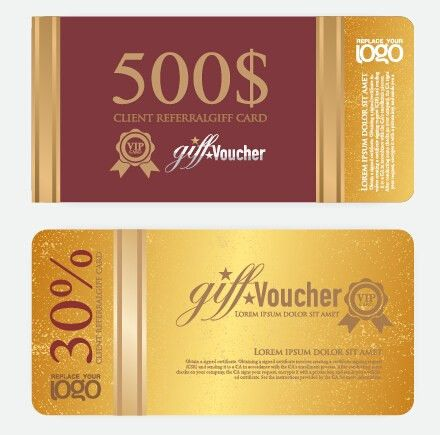 Vector Gift voucher design template 01 - Vector Other free download