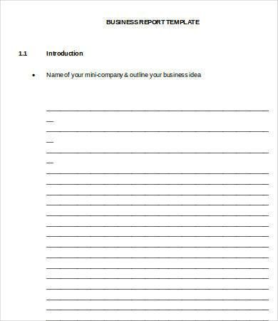 professional report template word