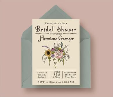 Bridal Shower Invitations Templates - plumegiant.Com