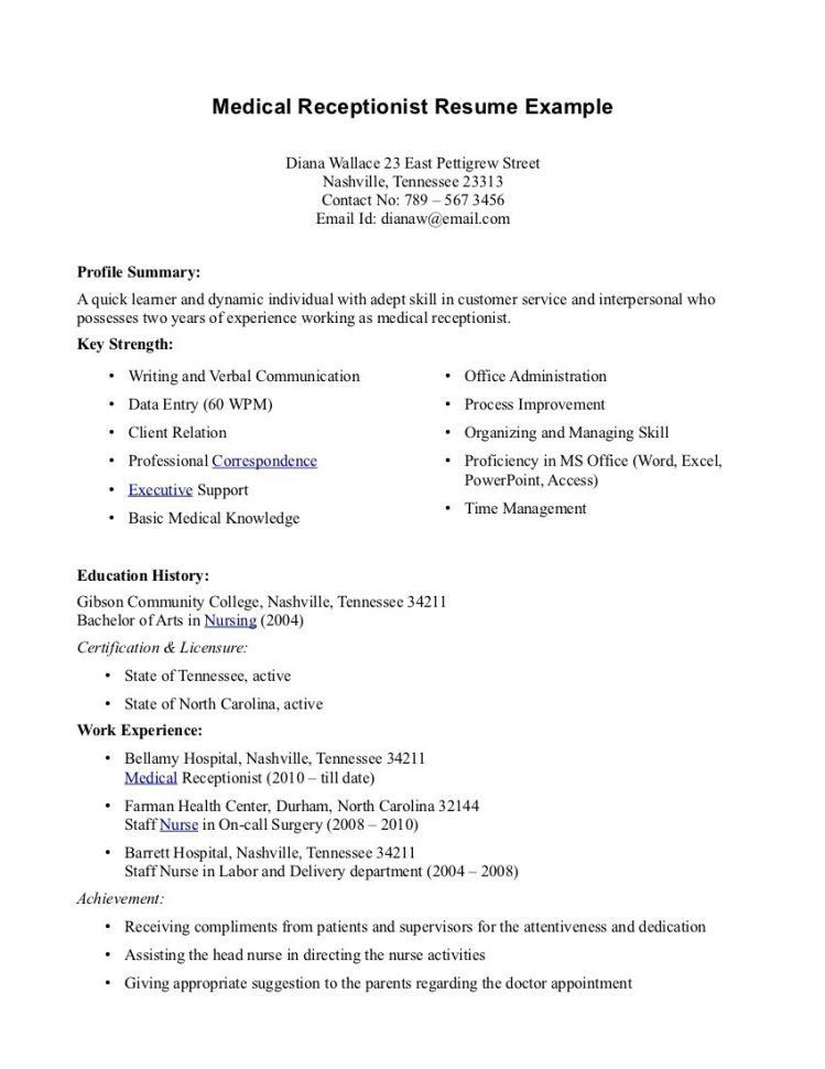 medical secretary sample resume medical secretary cv sample free