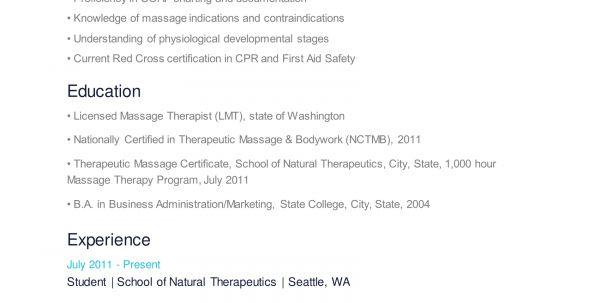 Massage Therapist Resume Skills Resume Examples for Massage ...