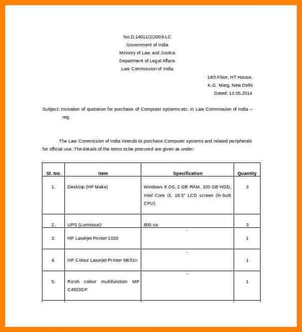 Free Download Quotation Template - formats.csat.co