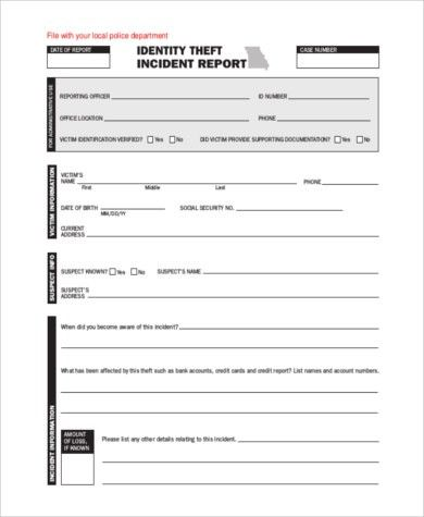Incident Report Sample - 9+ Free Documents in Word, PDF