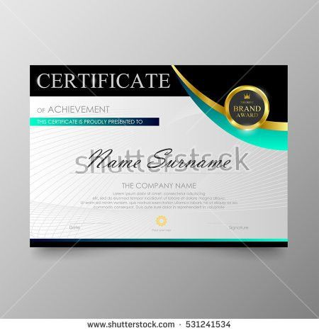 Stylish Certificate Appreciation Award Design Template Stock ...