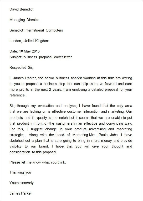 How To Write A Proposal Letter | flawedlogicjeepclub