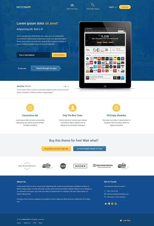 Fresh Free PSD Website Templates | Freebies | Graphic Design Junction