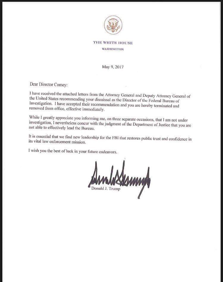 President Trump fires FBI Director James Comey | New York Post
