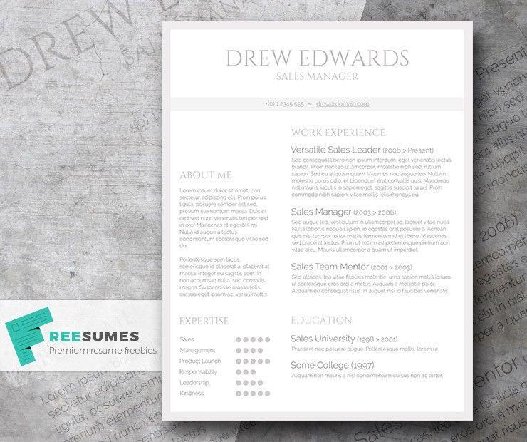 Free Straightforward Resume Design - Basic Grey and White