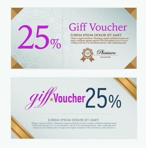 Excellent voucher template vector design 02 - Vector Other free ...