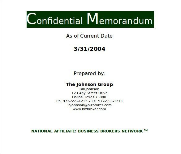 Confidential Memo Template – 10+ Free Word, PDF Documents Download ...