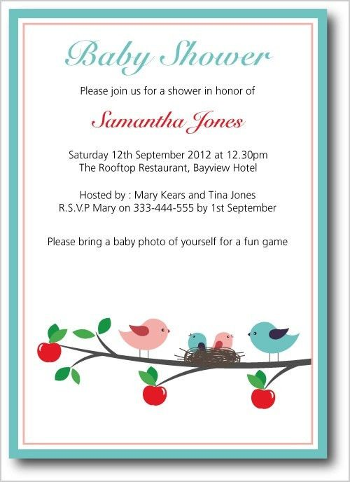 Example Baby Shower Invites | ILCASAROSF.COM
