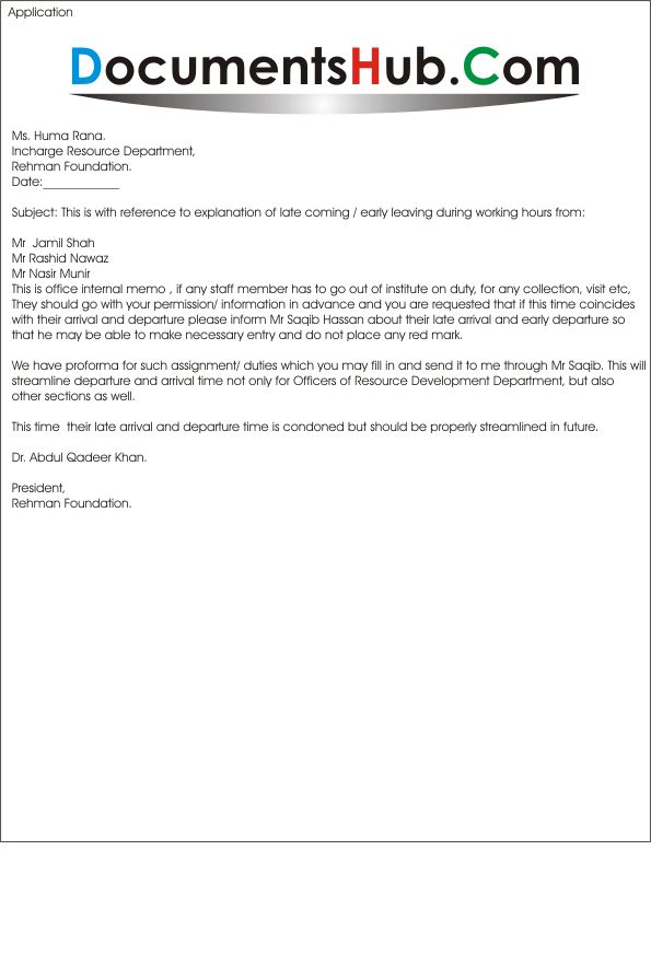 Internal Memo For Late Comers