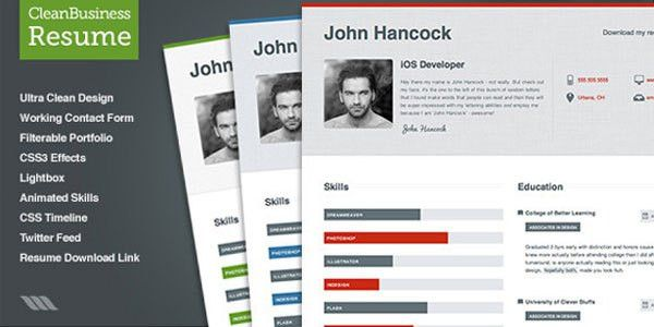 resume muse website template. myresume. savvy personal vcard ...