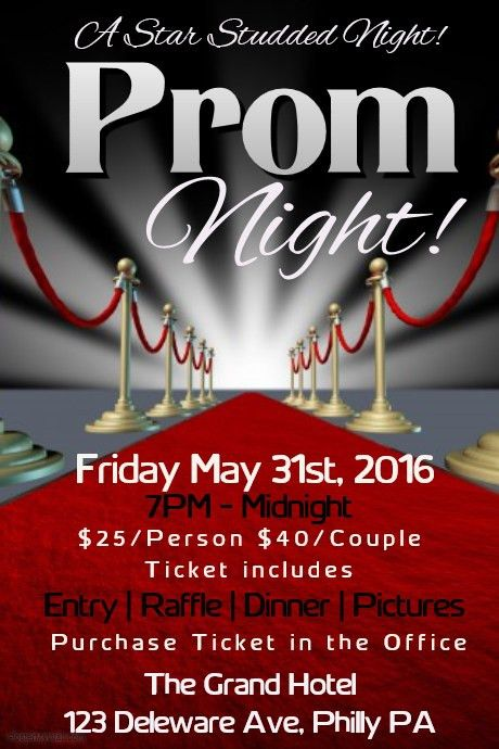 Customizable Design Templates for Prom | PosterMyWall