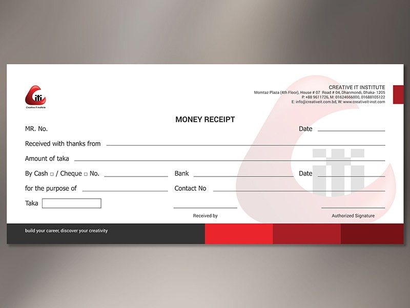 Corporate Money Receipt by 🎨 ROCK design 🎨 - Dribbble
