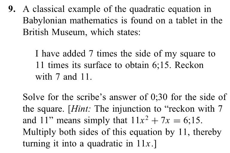 A Classical Example Of The Quadratic Equation In B... | Chegg.com