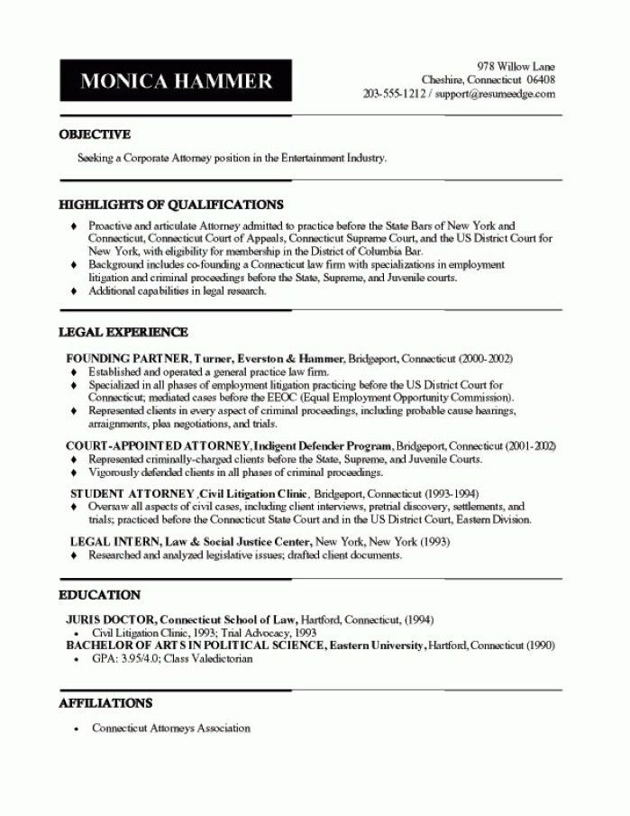 Trial Lawyer Cover Letter